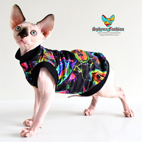 Neon Critters Cotton Knit - Sphynx Cat Top