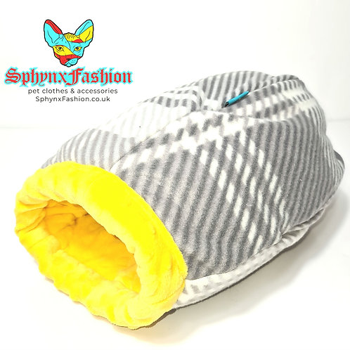 Extra Cosy Snuggle Cocoon Yellow for Kitten Small Cat