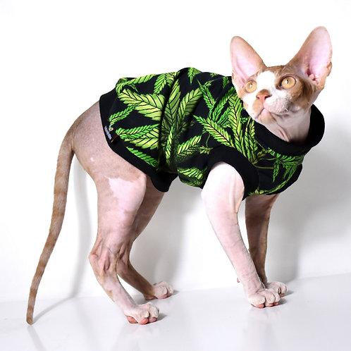 Cannabis Cotton Knit - Sphynx Cat Top