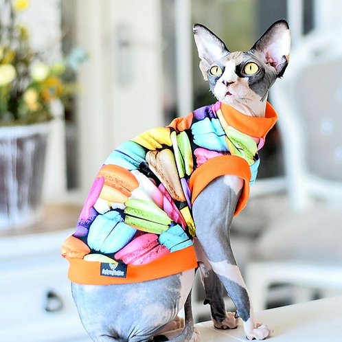 Macaroons Cotton Knit - Sphynx Cat Top