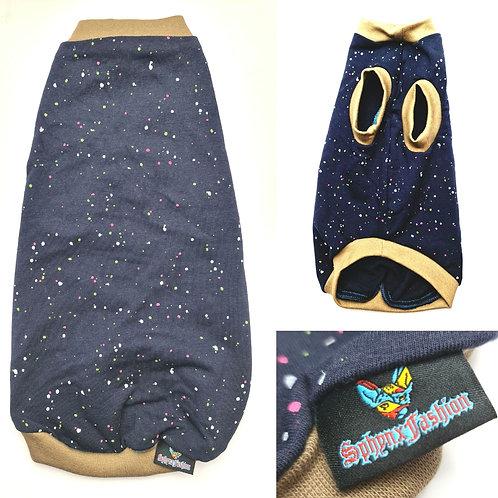 Navy Splash Cotton Knit (M)
