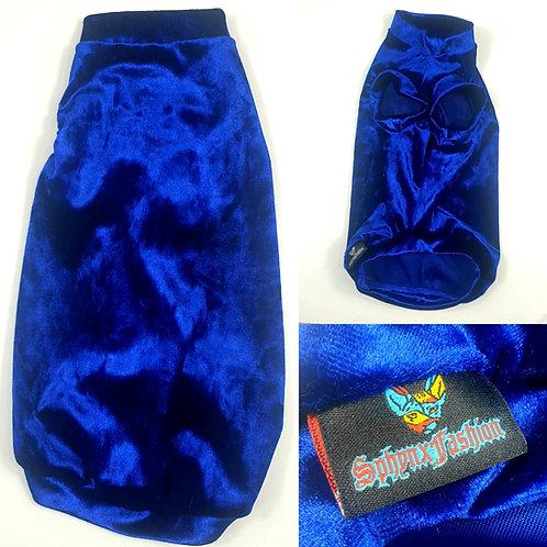 Long Royal Blue Velvet Deluxe Royal (XLL)