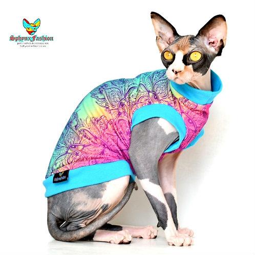 Eye  Paisley Jersey - Sphynx Cat Top