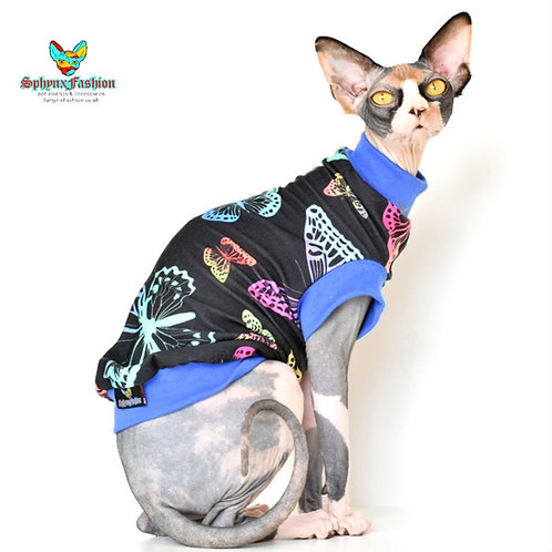 Black Butterfly Jersey - Sphynx Cat Top