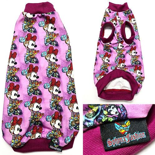 Purple Minnie Cotton Knit - Sphynx Cat Top