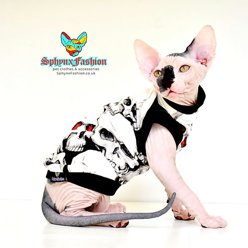 Skull Cotton Knit - Sphynx Cat Top