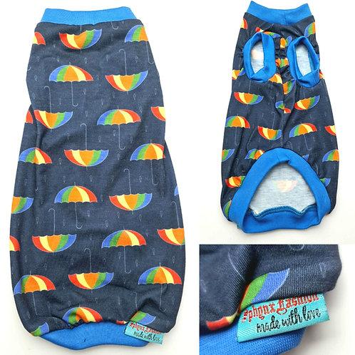 Rainbow Umbrella Reclaimed Jersey - Sphynx Cat Top