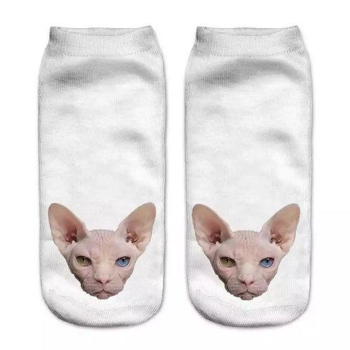 White Sphynx Socks