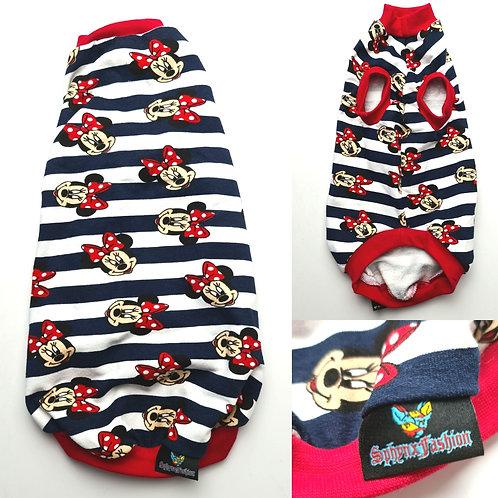 Stripe Minnie Cotton Knit (L)