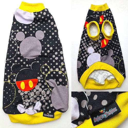 Polka Dot Mickey Cotton Knit- Sphynx Cat Top