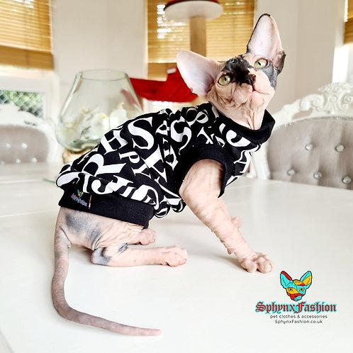 Alphabet Cotton Knit - Sphynx Cat Top