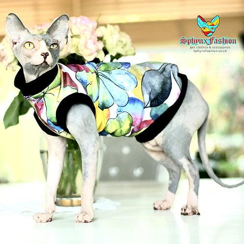 Watercolour Cotton Knit - Sphynx Cat Top