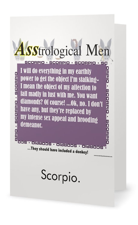 ASStrological Men Greeting Cards