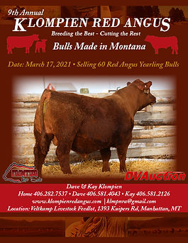 2021 Klompien Bull Catalog - front page.