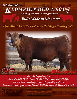 2020 Klompien Bull Catalog - Front Page.