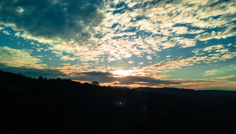 Sunset over the Hinterland