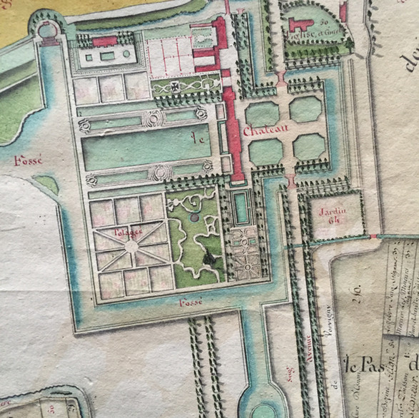Plan de jardin XVIIIème siècle
