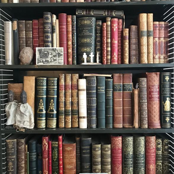 Bibilothèque de livres anciens