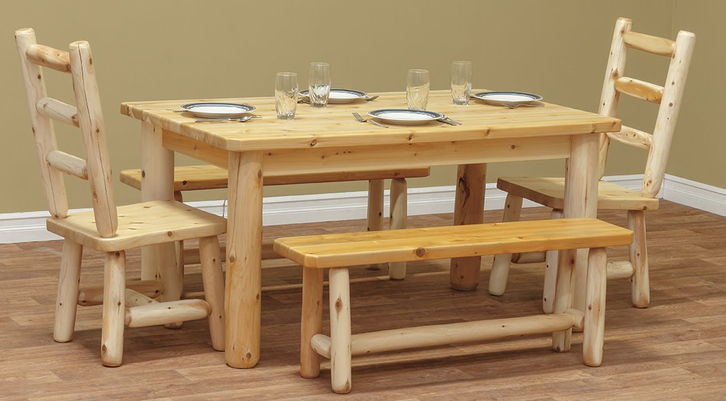 Six Foot Farm Table in Rustic