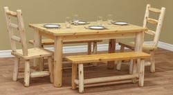 Six Foot Farm Table in Rustic