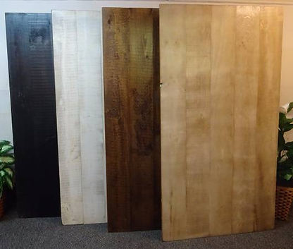 Rough Sawn Pine Standard Stain Samples