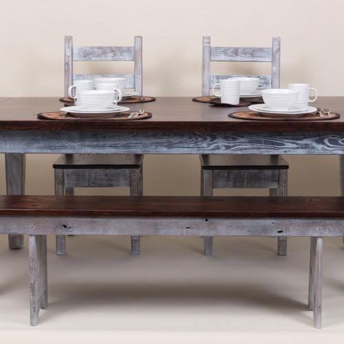 Austin Reclaimed Oak Farm Table $800