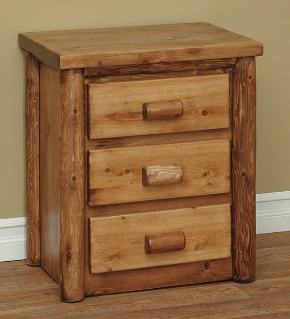 Three Drawer Night Stand in Classic
