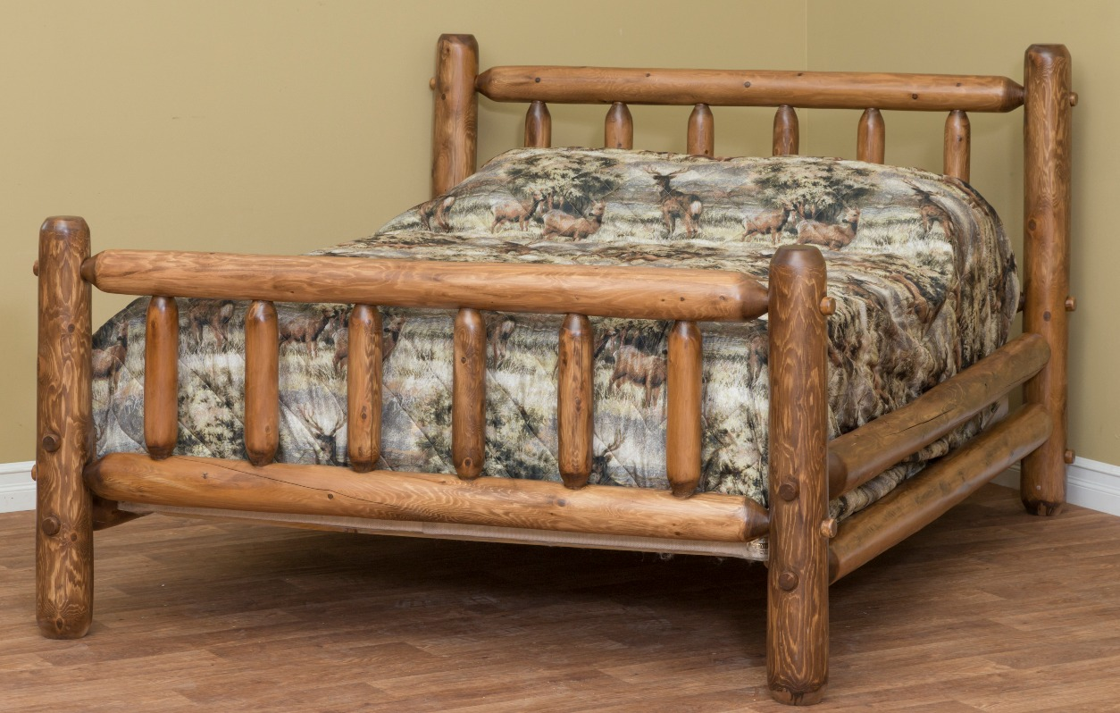 Stained Classic Log Bed