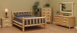 Classic Bedroom Set With Clear Coat