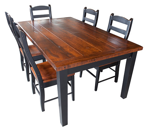 Rough Sawn Maple Top Shaker Farm Tables (2 Thicknesses Available)