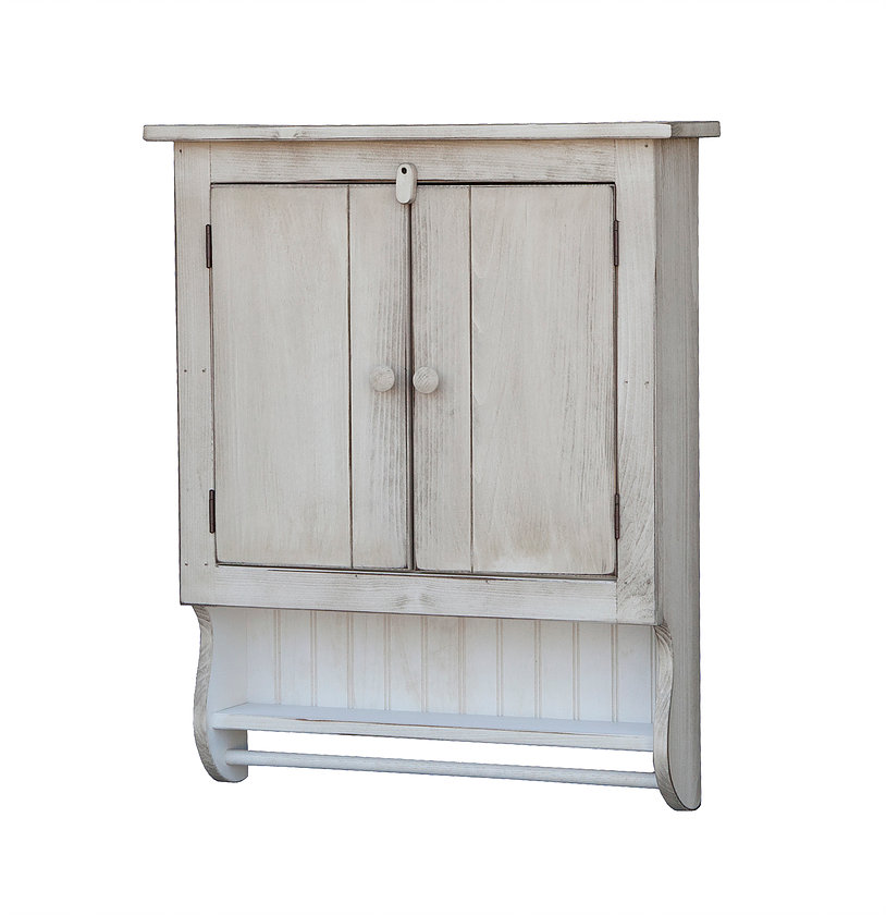 Bathroom Cabinet with Towel Bar