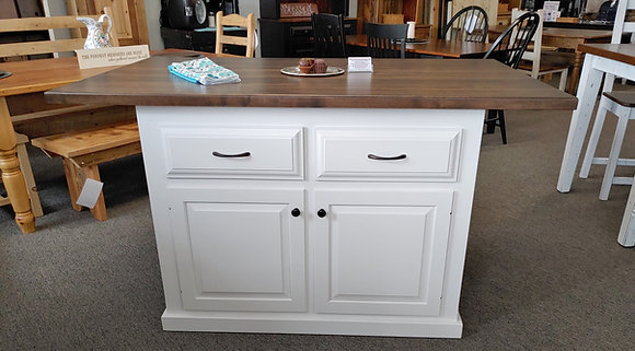 Witmer Island made of Poplar with Butcher Block Top $1,295