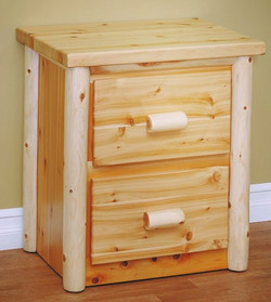 Two Drawer Night Stand in Classic