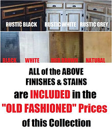 Amish Rough Sawn Pine Furniture Stock Finishes & Stains