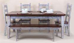 Thick Top Reclaimed Oak Farm Table