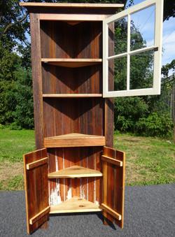 Reclaimed Wood Corner Cabinet