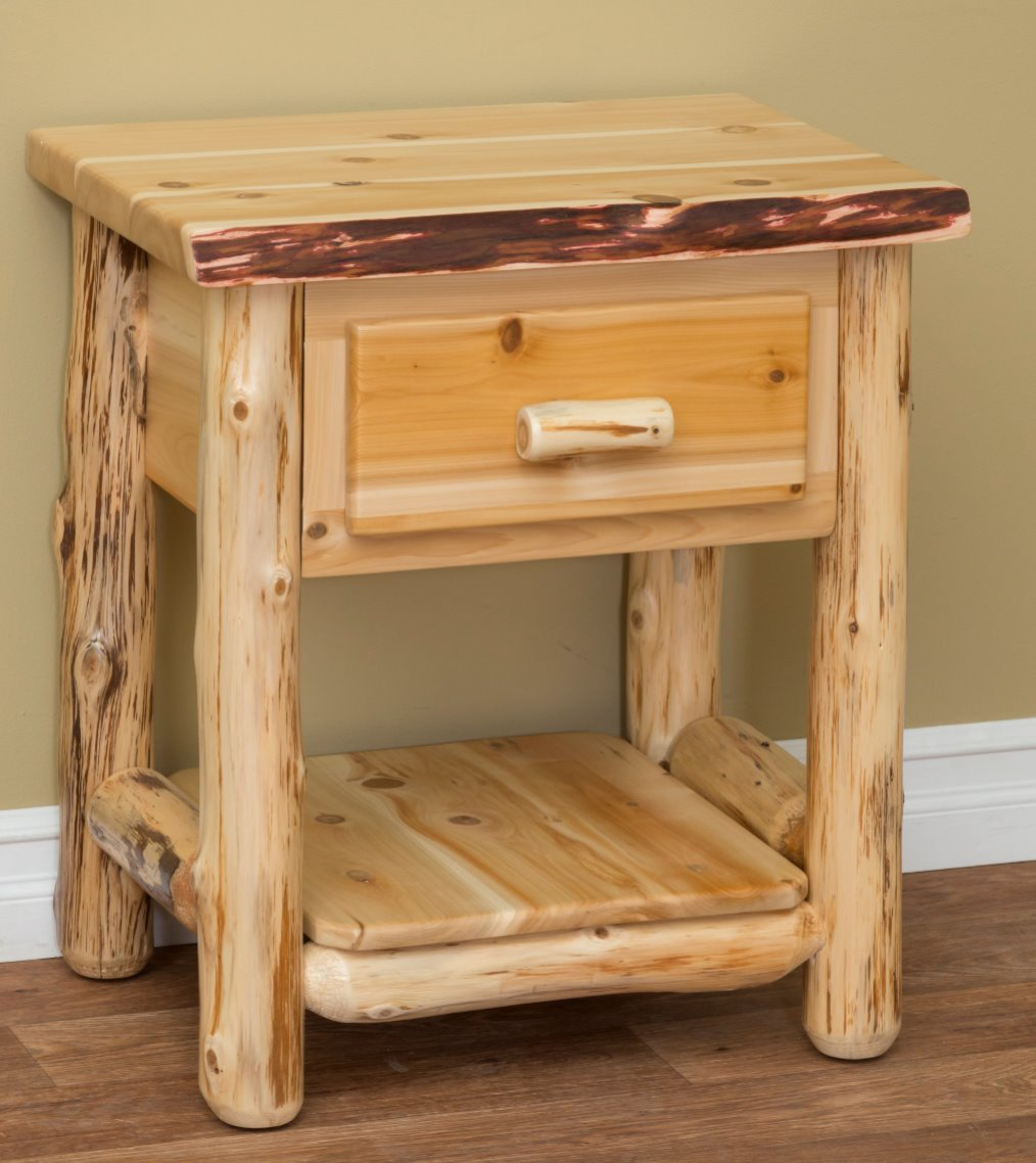 One Drawer Night Stand in Rustic