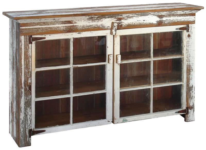 CABINET WITH 2-6 LITE WINDOWS