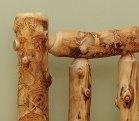 Aspen Log Bed Close up