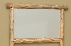 Rustic Log Framed Mirror