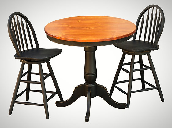 Paradise Table with Two Swivel Bar Stools $755