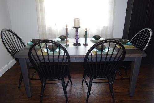 Austin Reclaimed Oak Farm Table $775