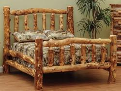 Close Up Aspen Log Bed
