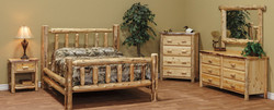 Rustic Bedroom Set with Clear Coat