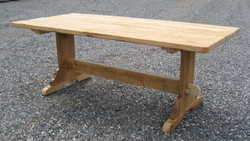 007 thick top trestle table