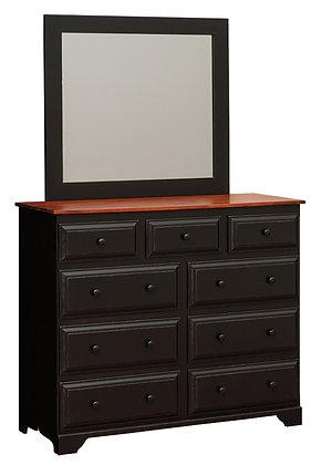 Witmer Nine Drawer Dresser with Mirror $875
