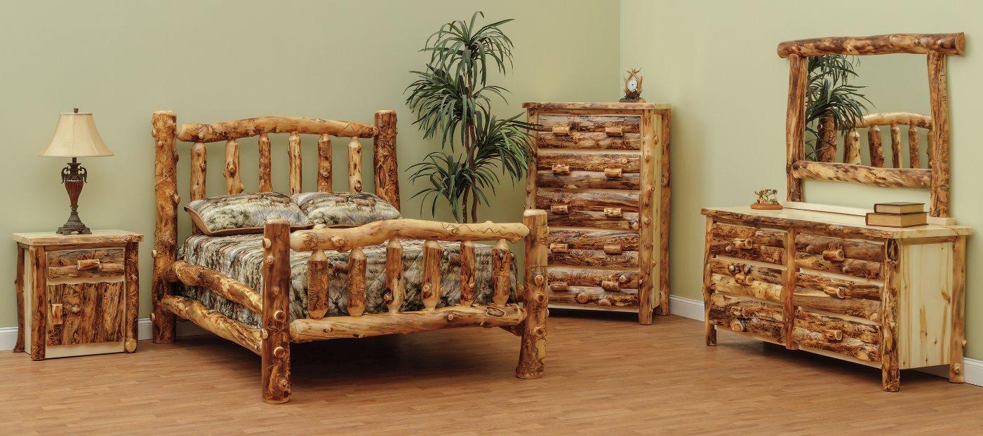 Aspen Bedroom Set with Clear Coat