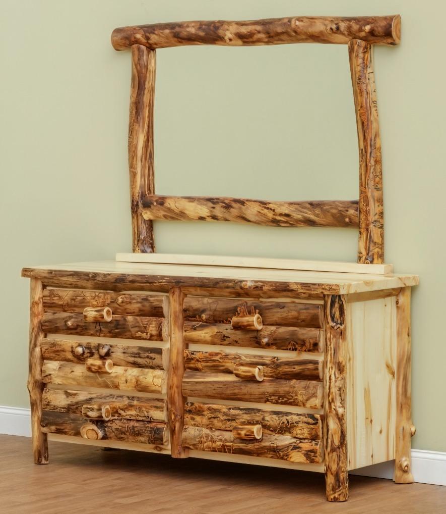 Six Drawer Log Dresser in Aspen
