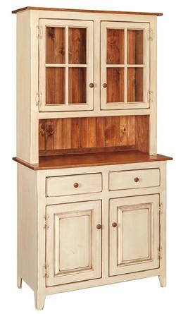 Solid Wood Stepback Hutch
