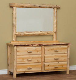 Six Drawer Dresser in Rustic